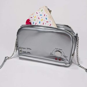 Betsey Johnson A Toast To You Crossbody Bag Silver